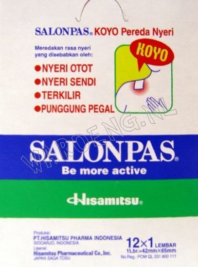 Salonpas heat plaster - Click Image to Close