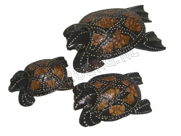 Wooden Turtles/ set 3 - Click Image to Close