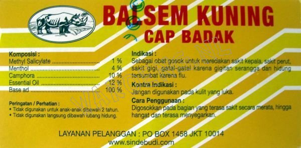 Balsam Cap Badak - Click Image to Close